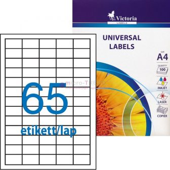 Victoria 38,1 x 21,2 mm méretű nyomtatható öntapadós etikett címke