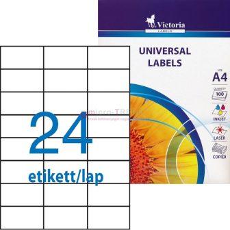 Victoria 70 x 37 mm méretű nyomtatható öntapadós etikett címke