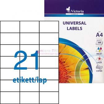 Victoria 70 x 42,4 mm méretű nyomtatható öntapadós etikett címke