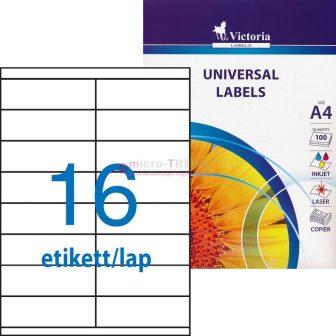 Victoria 105 x 35 mm méretű nyomtatható öntapadós etikett címke