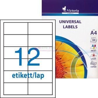 Victoria 97 x 42,4 mm méretű nyomtatható öntapadós etikett címke