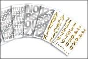 Öntapadó betűk és számok