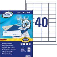 europe100 ELA002 öntapadó etikett címke
