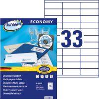 europe100 ELA009 öntapadó etikett címke