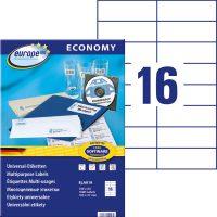 europe100 ELA019 öntapadó etikett címke