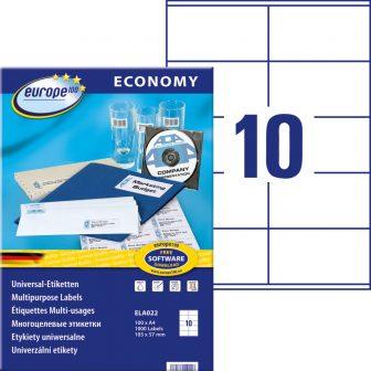 europe100 ELA022 öntapadó etikett címke