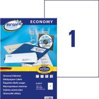 europe100 ELA027 öntapadó etikett címke