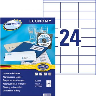 europe100 ELA034 öntapadó etikett címke