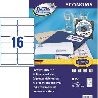 europe100 ELA041 öntapadó etikett címke
