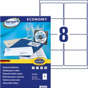 europe100 ELA043 öntapadó etikett címke