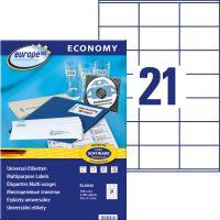europe100 ELA045 öntapadó etikett címke