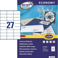 europe100 ELA046 öntapadó etikett címke