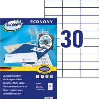 europe100 ELA047 öntapadó etikett címke