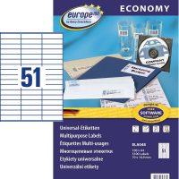 europe100 ELA048 öntapadó etikett címke