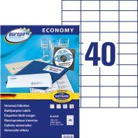 europe100 ELA049 öntapadó etikett címke