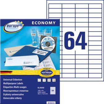 europe100 ELA050 öntapadó etikett címke