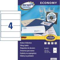 europe100 ELA051 öntapadó etikett címke